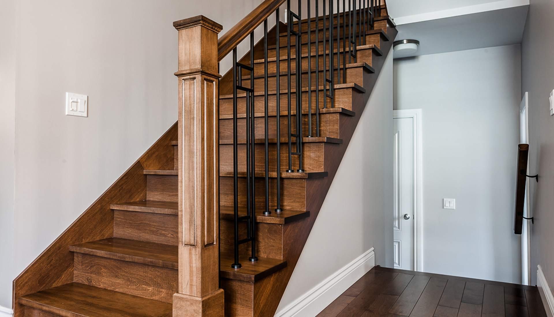 superbe escalier bois et metal 11 escalier bois et m tal rable huil et teint. Black Bedroom Furniture Sets. Home Design Ideas