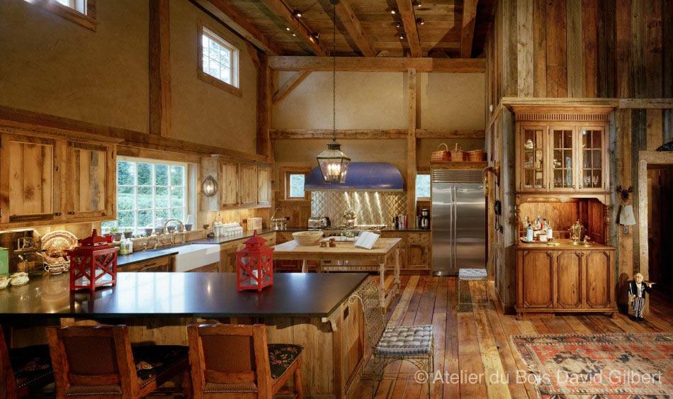 David Gilbert   Revêtement intérieur en bois de grange – Photos